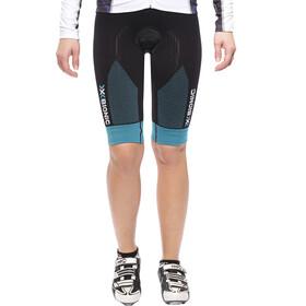 X-Bionic Effektor Power Ow Salopette da ciclismo Comfort Donna, black/turquoise